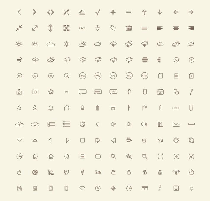 144 Free Icons