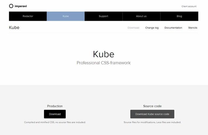 Kube - professional CSS-framework