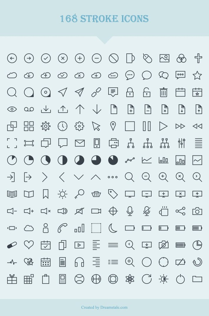 168 Vector Stroke Icons