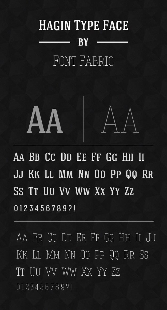 best free fonts 2014 - Hagin Font
