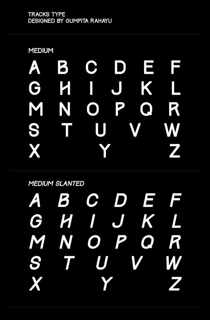 Track free font