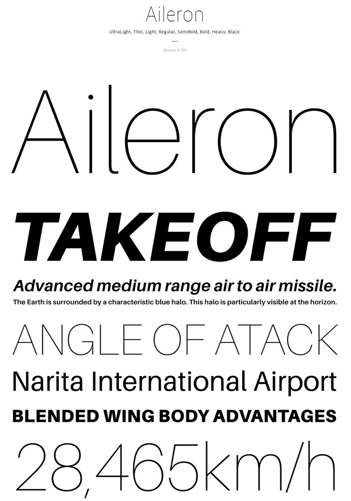 best free fonts 2014 - Aileron