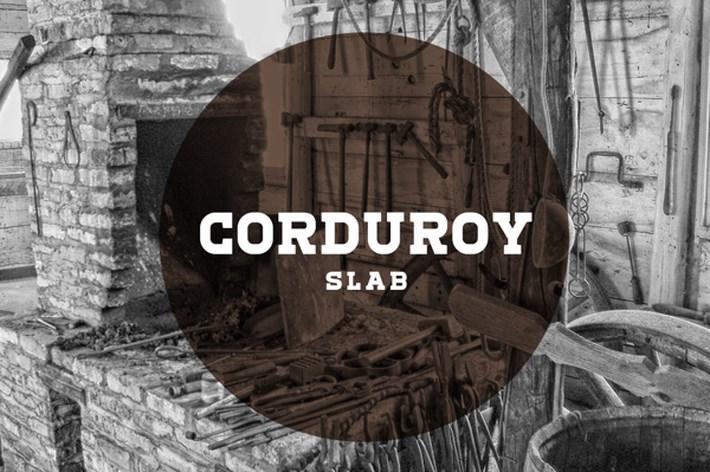 Corduroy Slab Free Font