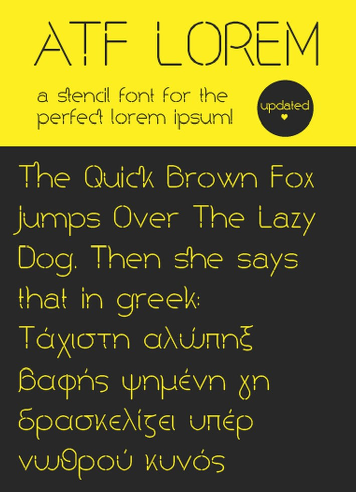 ATF Lorem Free Font