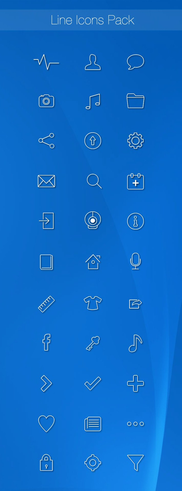 54 Free Line Icons