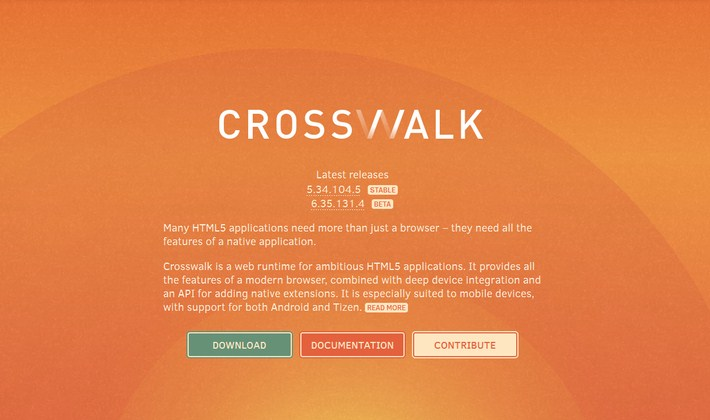 Crosswalk Web Runtime for Ambitious HTML5 Application