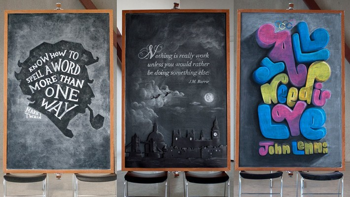 Wonderful Chalkboard Art