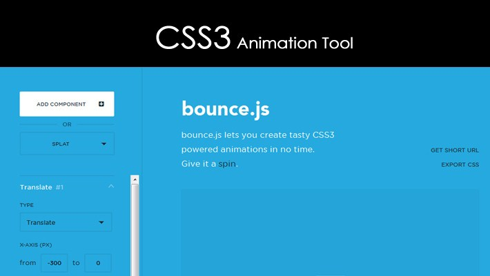 Generate CSS3 Animation Tool with Bounce-js