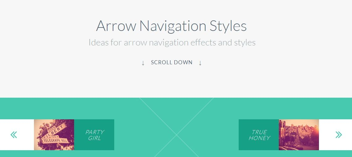 Arrow Navigation Styles Effects using SVG