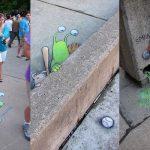 Chalk Drawn Sluggo by David Zinn