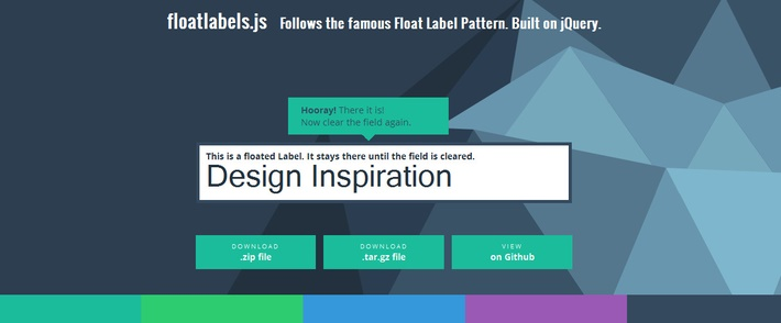 Float Label Pattern JQuery Plugin