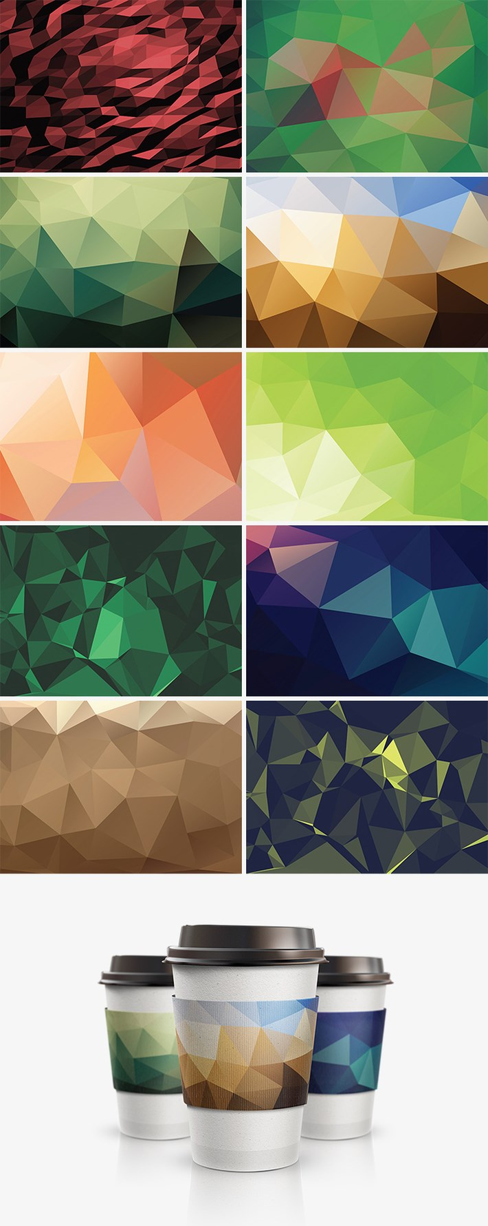 Free Geometric Polygon Backgrounds