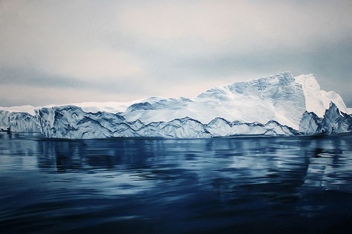 Melting Iceberg Painting