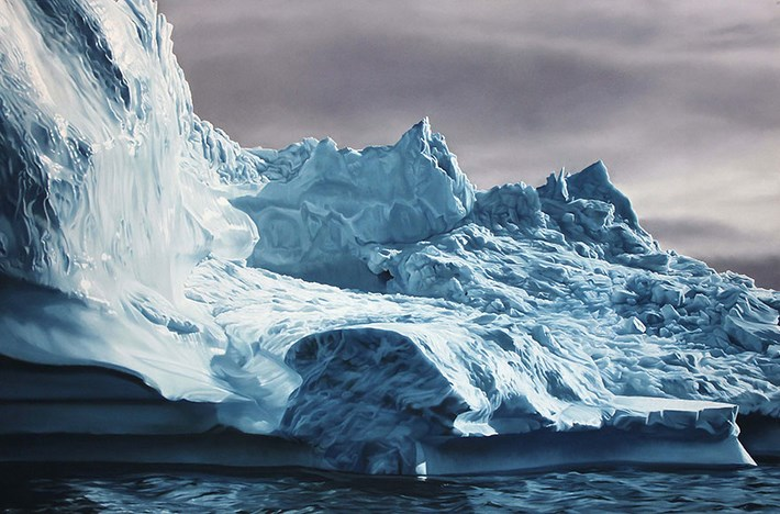 Melting Iceberg Painting by Zaria Forman