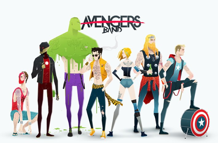 Super-Heroes-Illustration - Super-Rockers