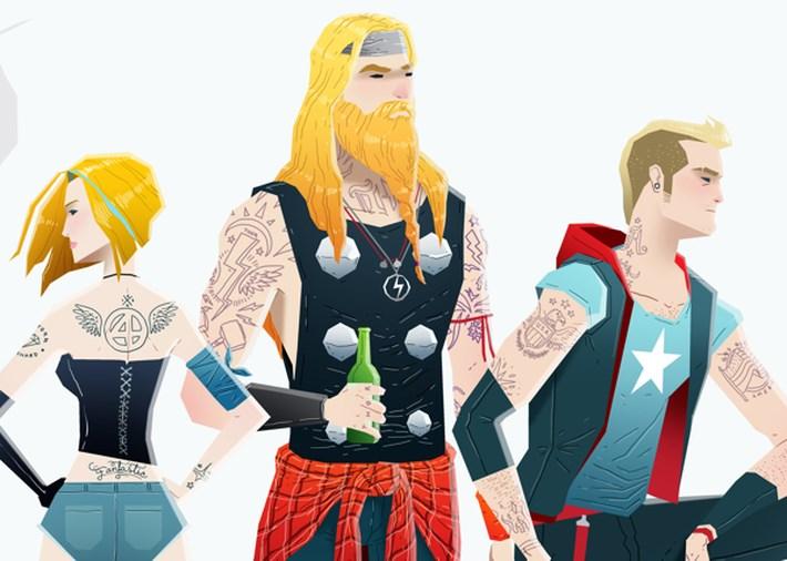 Super Heroes Illustration