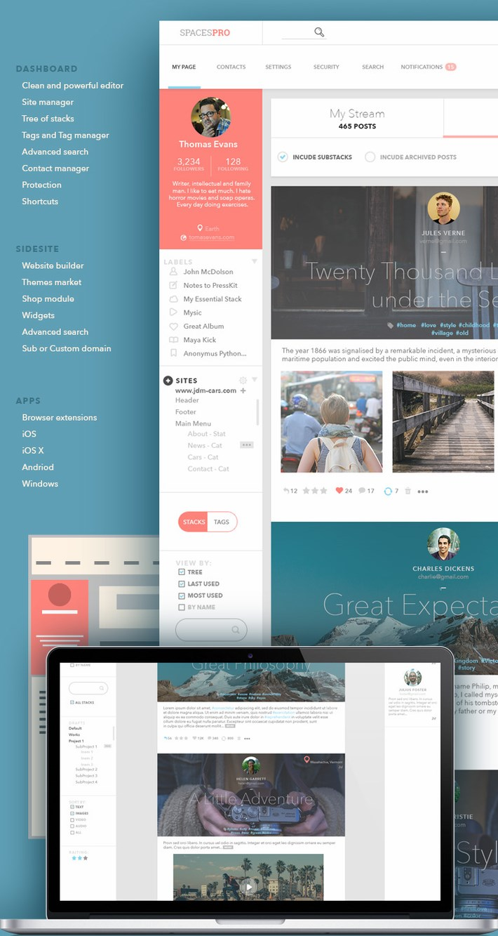 SpacesPRO UI UX Design Inspiration