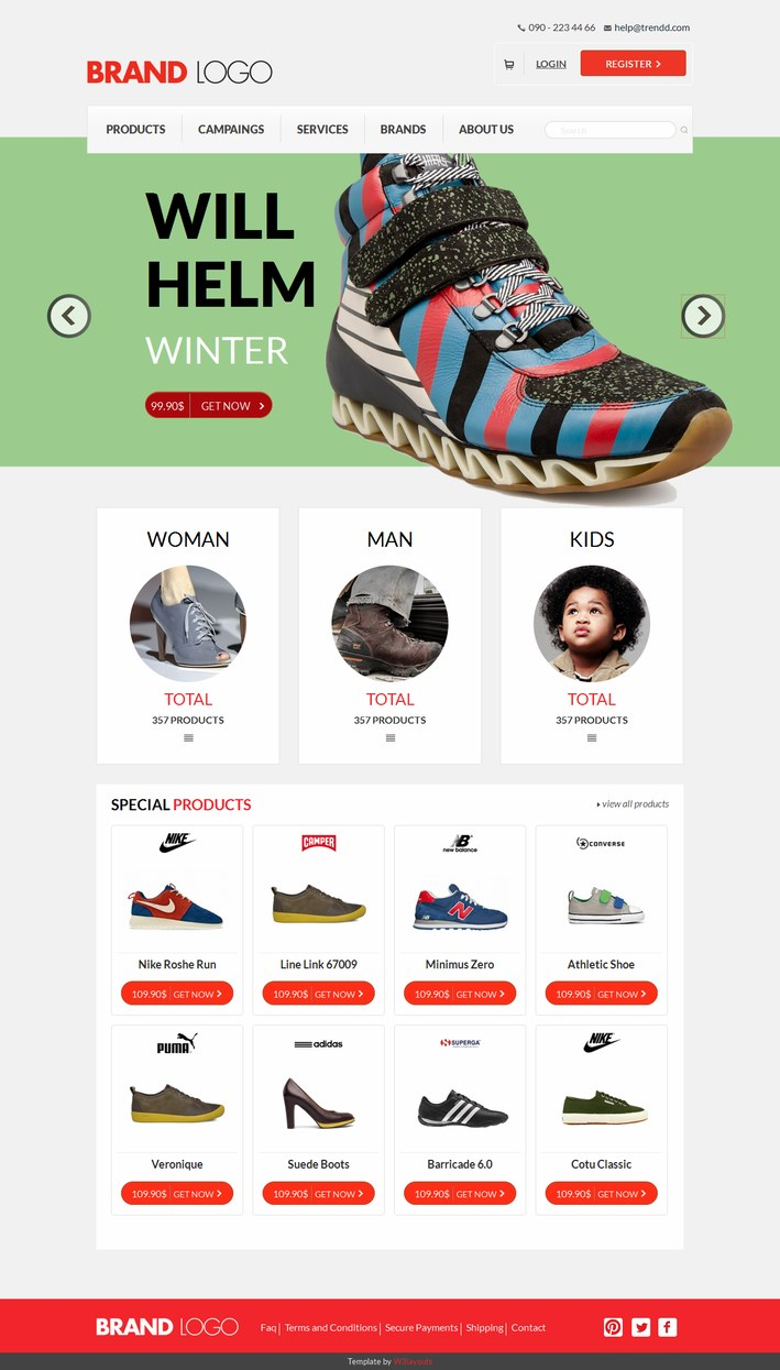 Brand Logo a Flat Responsive Ecommerce Template