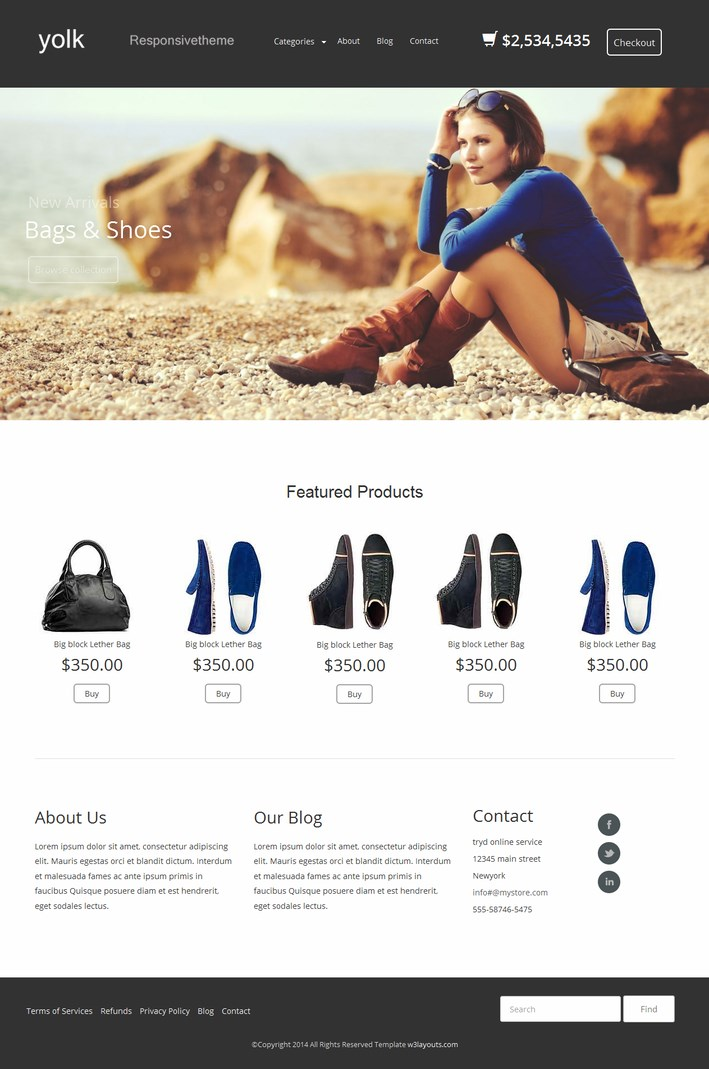 The Yolk_Free_WordPress_Ecommerce_Theme