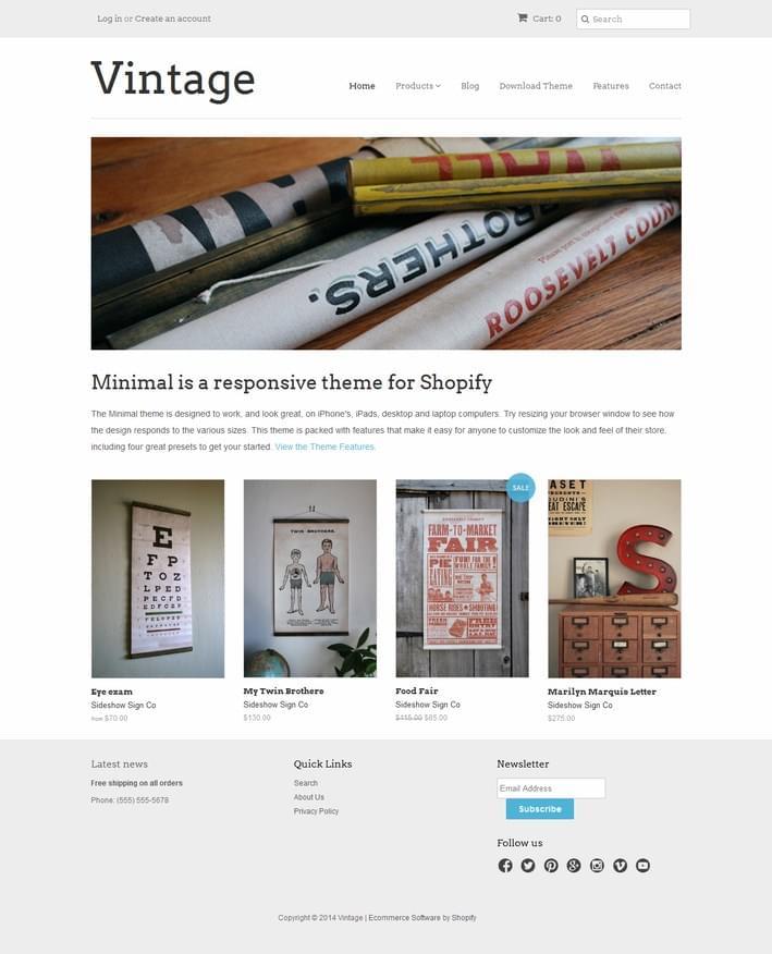 Minimal_Vintage_Responsive_Template