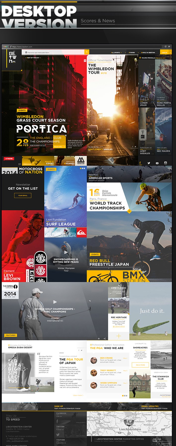 Extreme Sports Magazine UI UX Design Inspiration