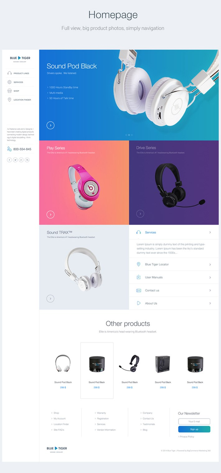 Headphones Store UI UX Design Inspiration