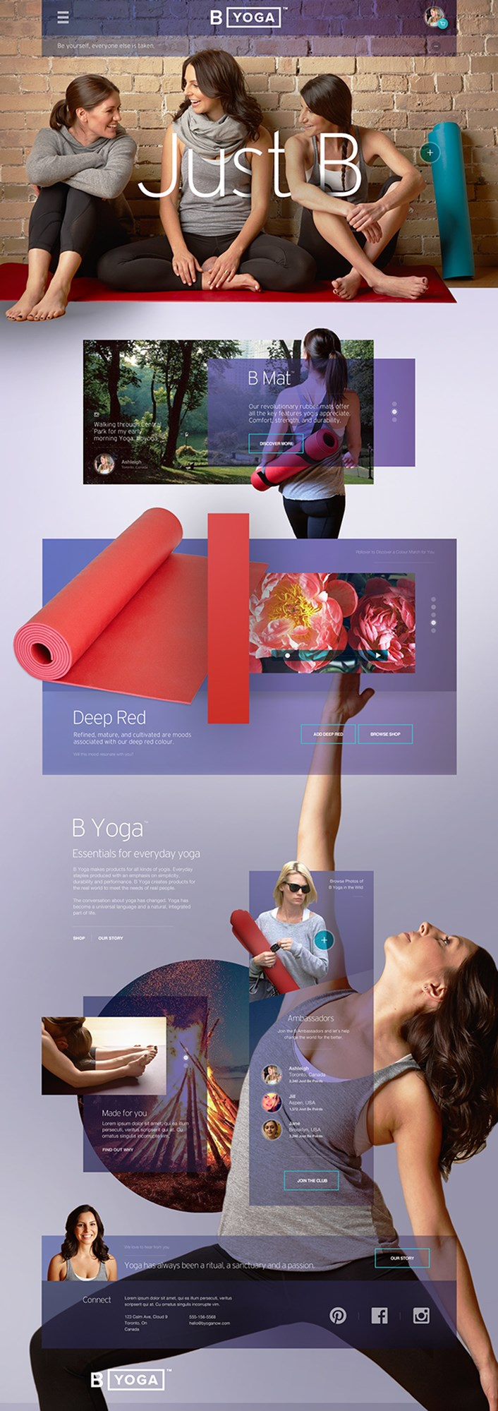 B_Yoga UI UX Design Inspiration