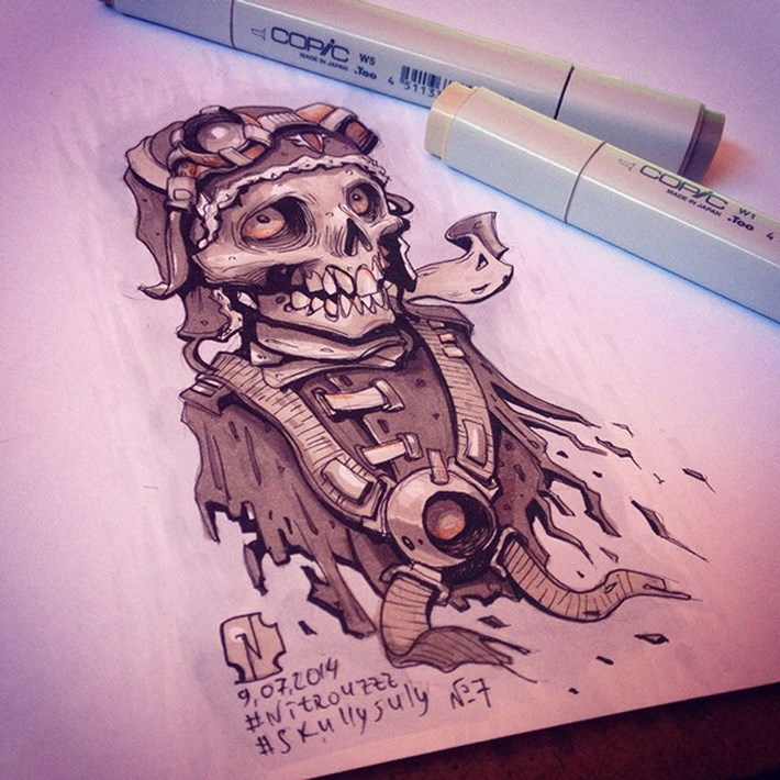 Creative Skull Illustration