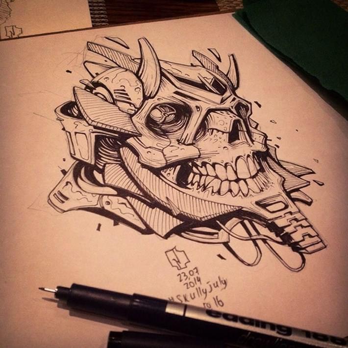 Creative_Skull_Illustration_by_Andrey_Pridybaylo