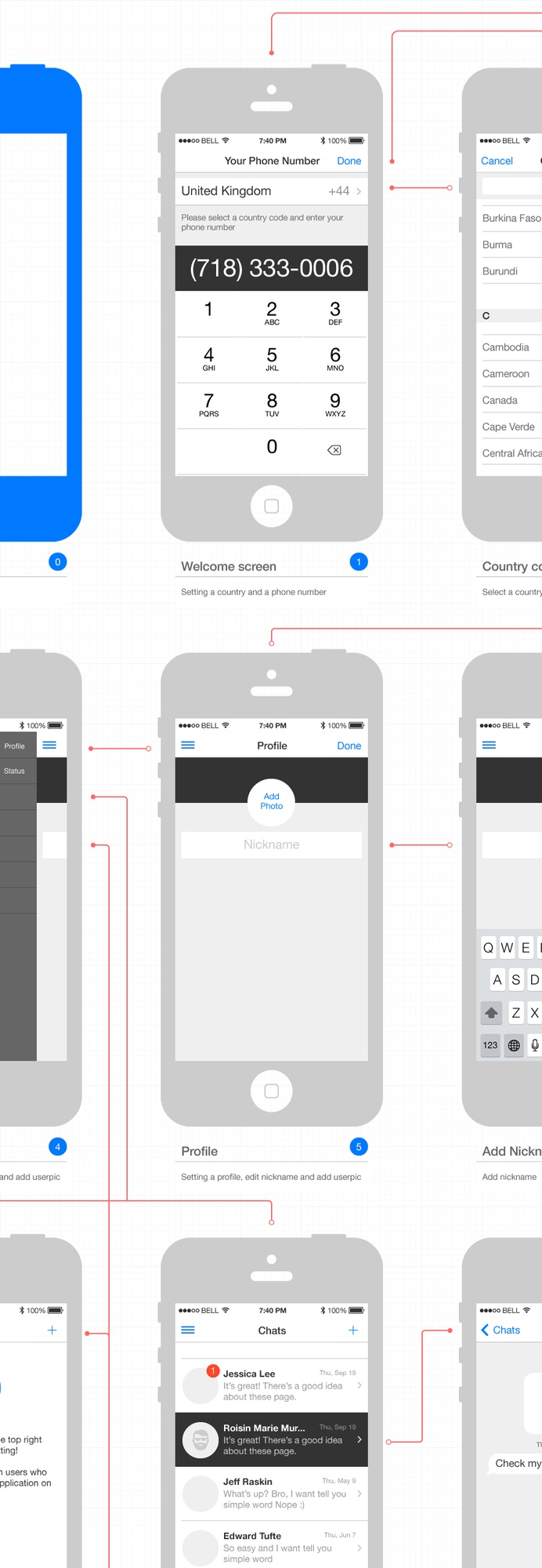free ios 7 wireframe toolkit