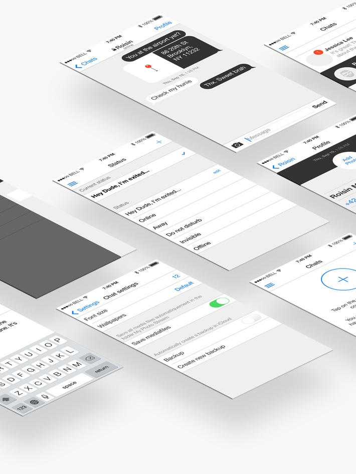 Free iOS 7 iPhone Wireframe Toolkit for Prototyping