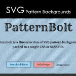 SVG Pattern Backgrounds Pattern Bolt