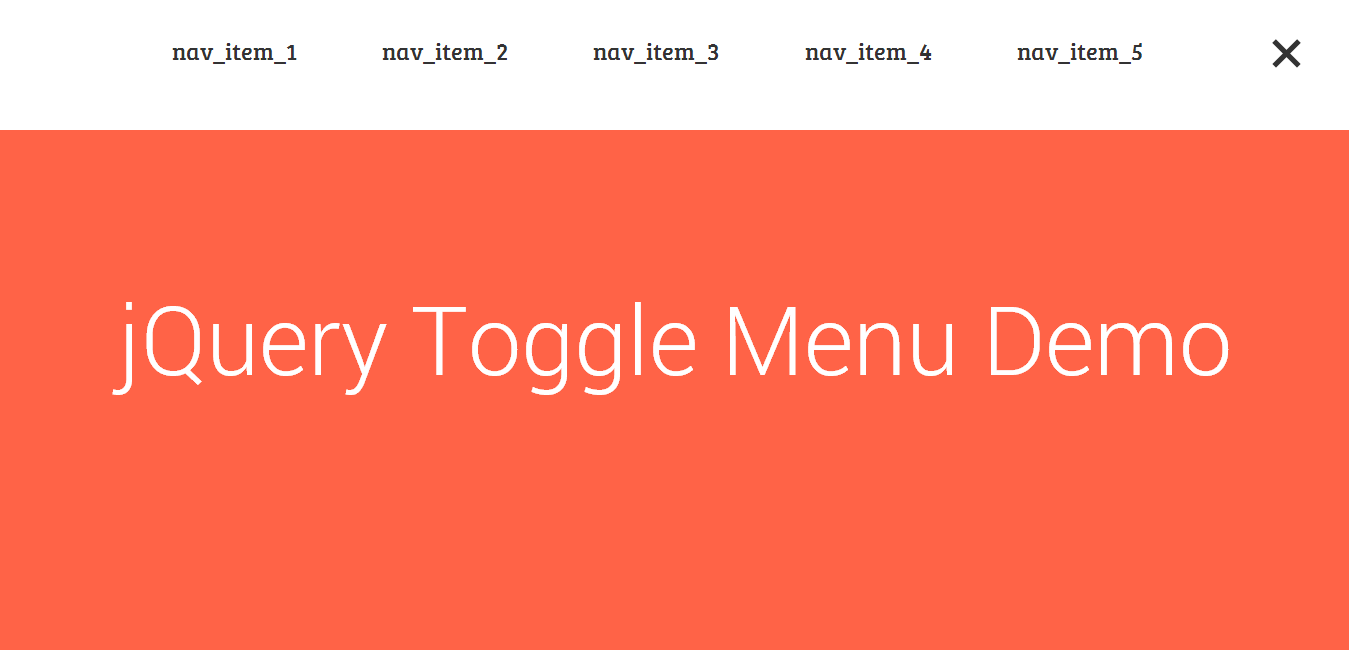 jQuery Toggle Menu