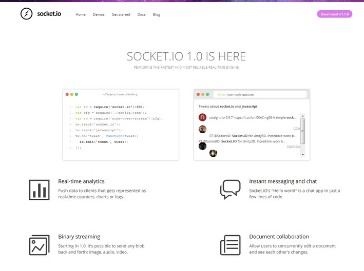 Socket.IO - Node.js Web Development Frameworks