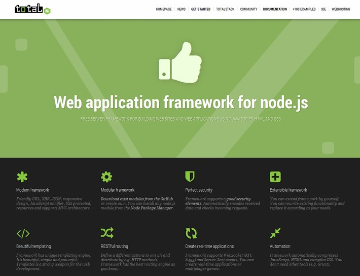 total.js - Node.js Web Development Frameworks