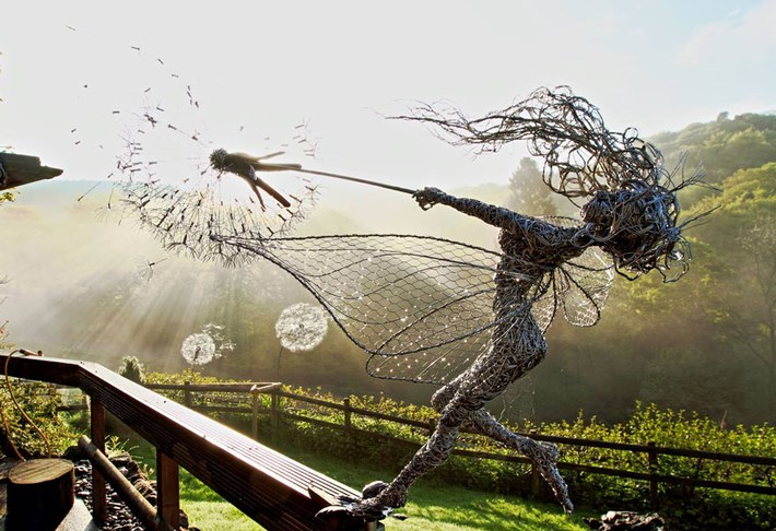 Dynamic Fairy Wire Sculptures
