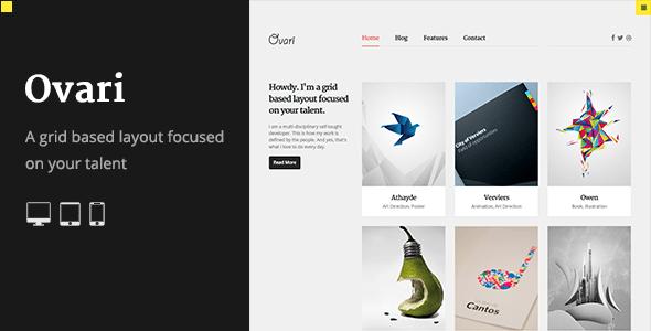 OVARI - A Creative Portfolio HTML Template