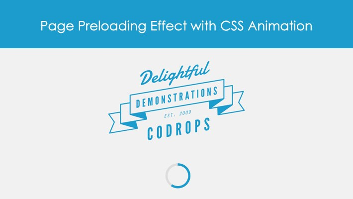 Page Preloading Effect with CSS Animation 1