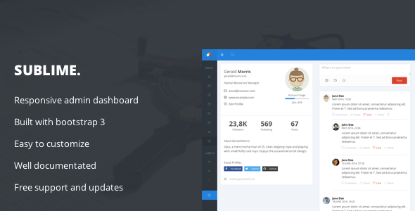 Sublime - Web Application Admin Dashboard