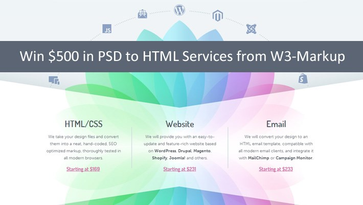 Win $500 in PSD to HTML Services from W3-Markup 4