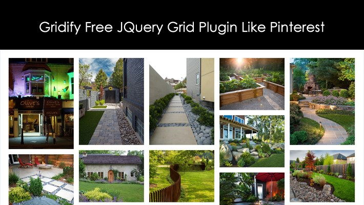 Gridify Free JQuery Grid Plugin Like Pinterest
