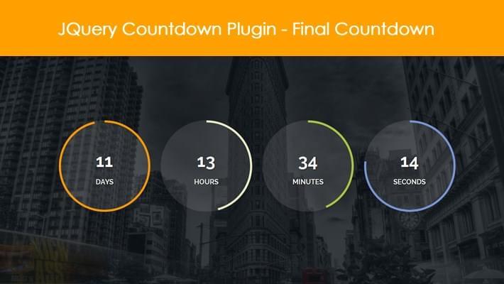 JQuery Countdown Plugin - Final Countdown