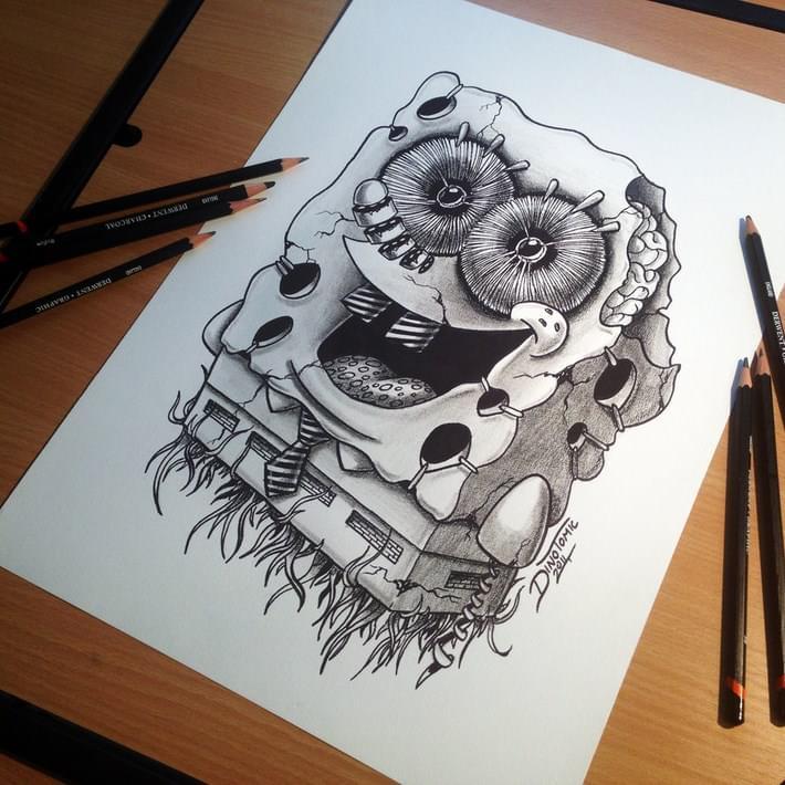 Wonderful Pencil Drawings by Dino Tomic