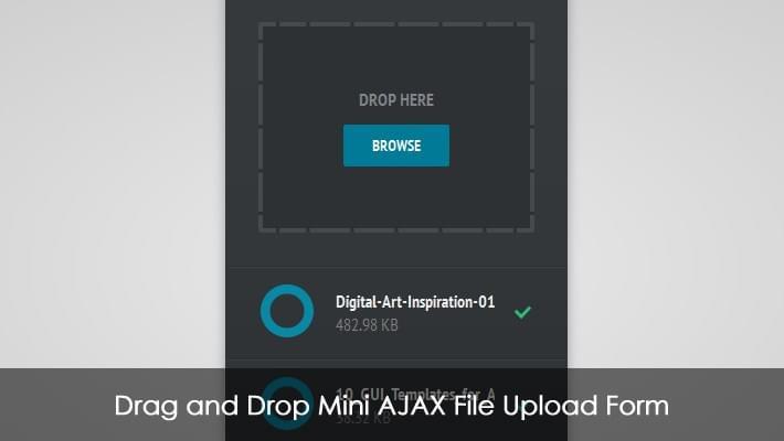 Drag and Drop Mini AJAX File Upload Form