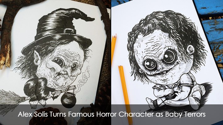Alex Solis Turns Famous Horror Character as Baby Terrors