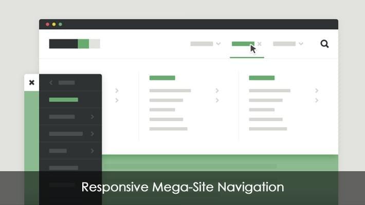 Responsive Mega-Site Navigation