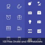 100 Free Stroke and Fill Web icons