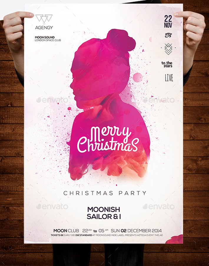 Awesome Christmas Poster and Christmas Background