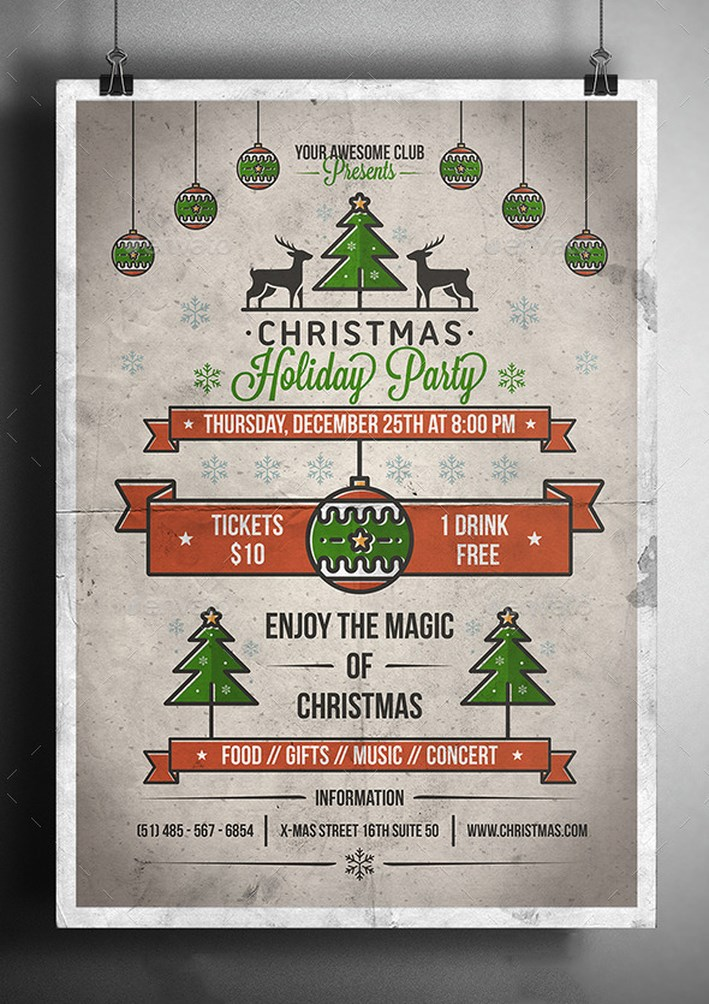 Awesome Christmas Poster And Background 20