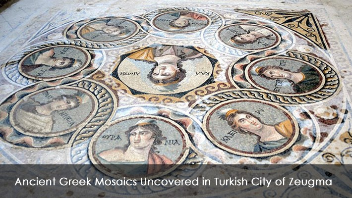 Ancient Greek Mosaics Uncovered in Turkish City of Zeugma